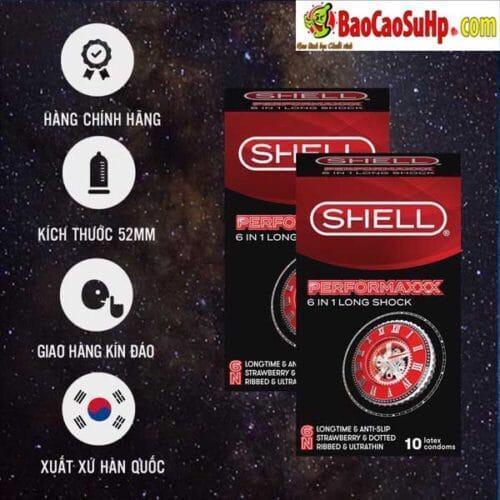 Bao cao su Shell Prenium 6in1 (Siêu chất lượng)