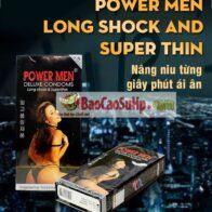 Bao cao su Power Men 2 in 1 Super Thin (Siêu mỏng ,kéo dài)