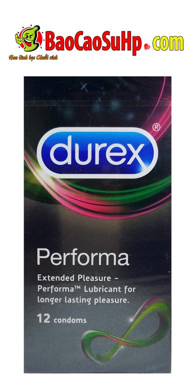 Bao cao su Durex Performa (Siêu kéo dài, siêu bôi trơn)