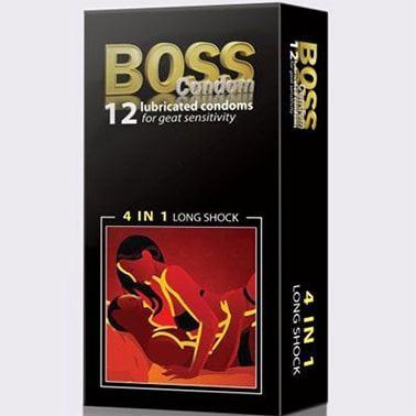Bao cao su Boss 4 in 1 Gân gai nổi chất kéo dài đưa nàng lên đỉnh