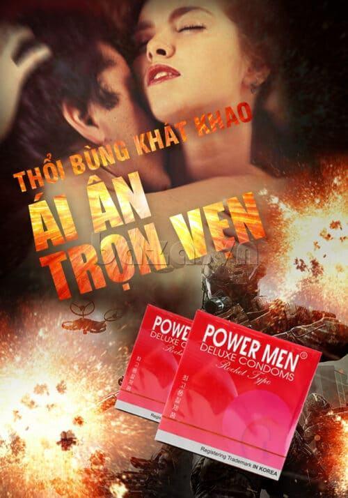 Bao cao su gân gai Powermen Rocket gân gai