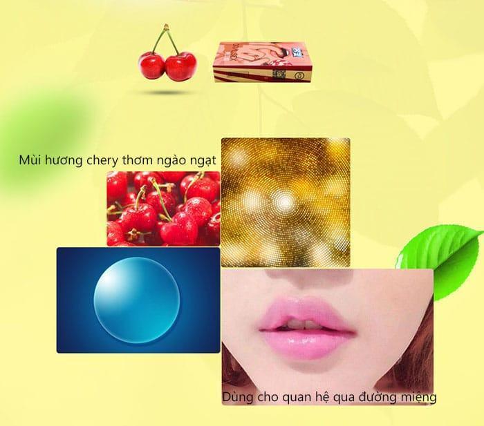 20180524210555 1585435 bao cao su quan he bang mieng cherry 1 - Bao cao su cho quan hệ bằng miệng hương cherry