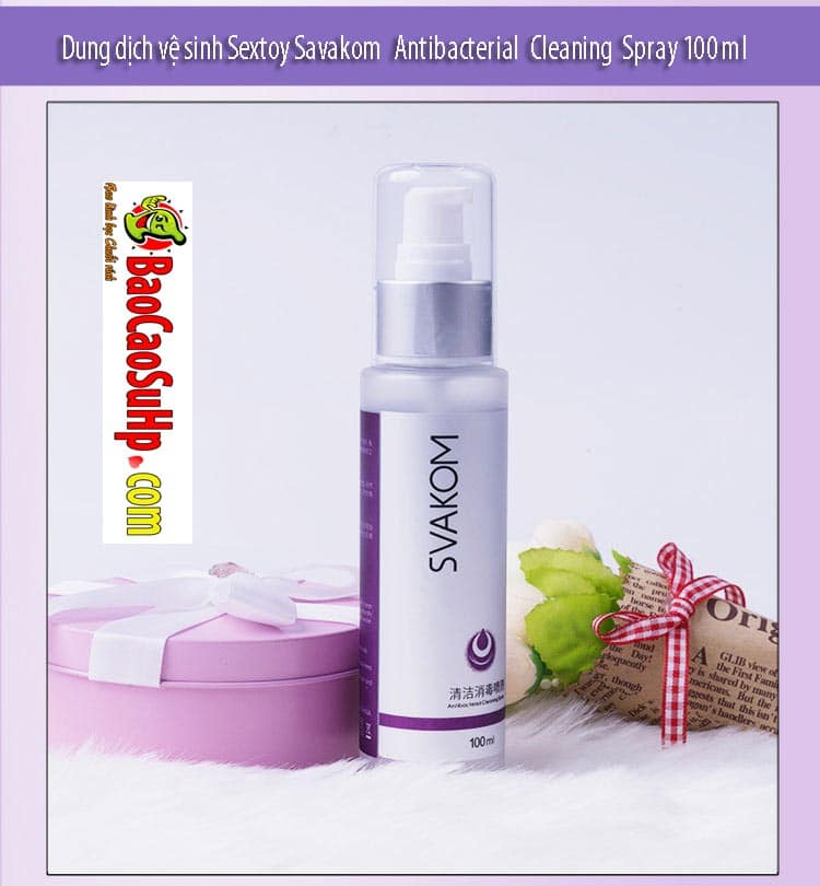20181105224211 3302302 dung dich ve sinh sextoy savakom antibacterial cleaning spray 100ml 5 - Bộ sản phẩm Gel bôi trơn và vệ sinh sextoy cao cấp Svakom