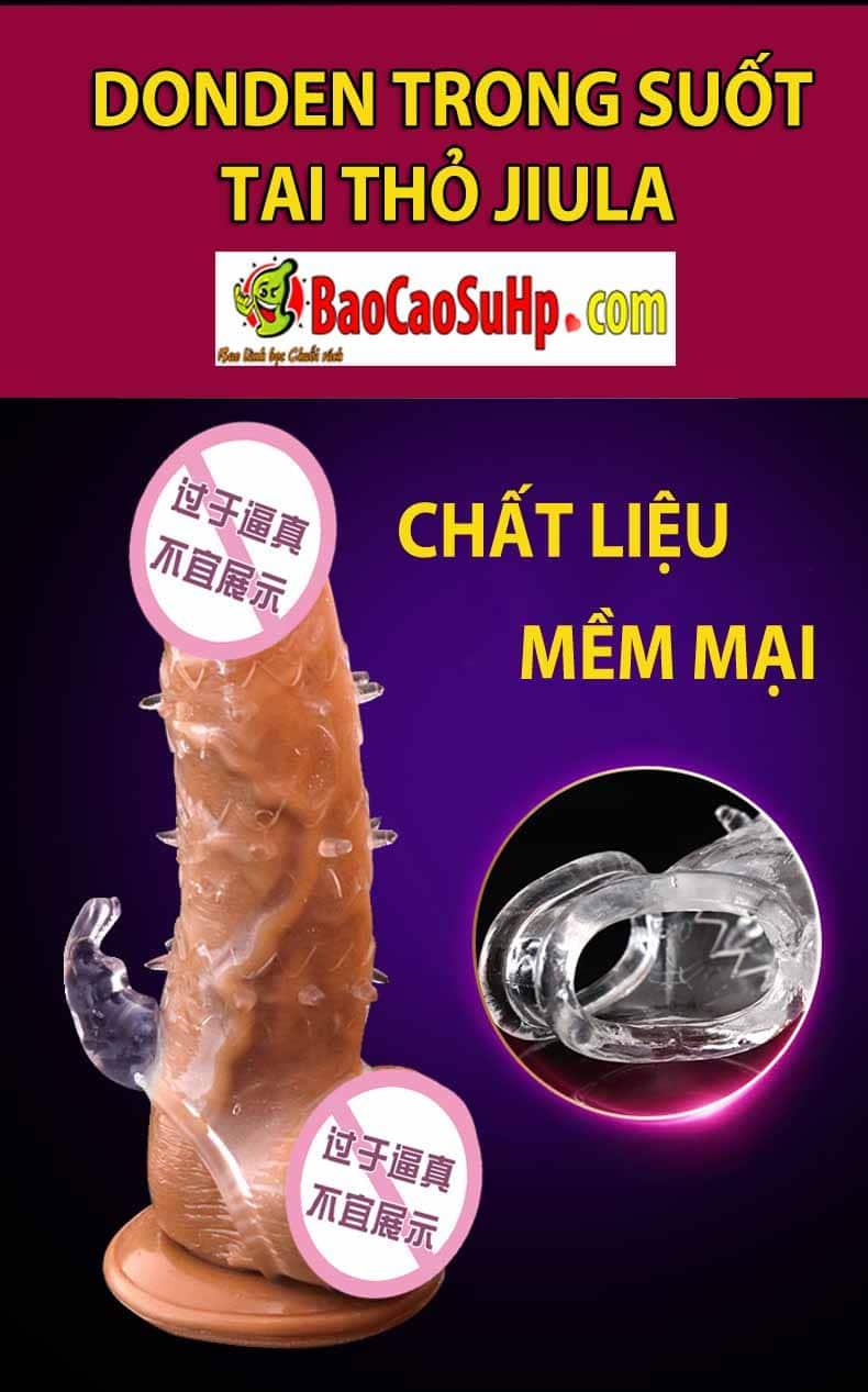 20181209163953 2232133 bao cao su donden trong suot jiula 2 - Bao cao su donden trong suốt tai thỏ gai gân Jiula