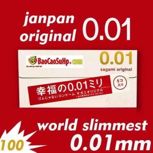 Bao cao su sagami Original 0,01 mỏng nhất thế giới giá rẻ
