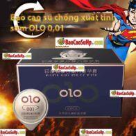 Bao cao su OLO 0.01 GramBlue Siêu mỏng chống xuất tinh sớm