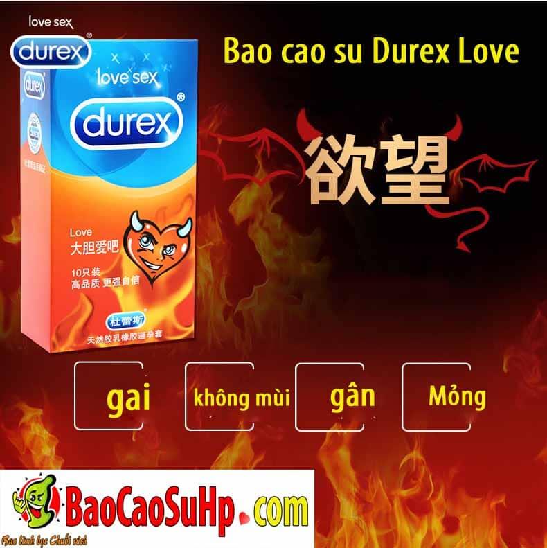 20190112233658 4514381 bao cao su durex love hai phong 1 - Bao cao su Durex Love gai gân hộp 12 chiếc
