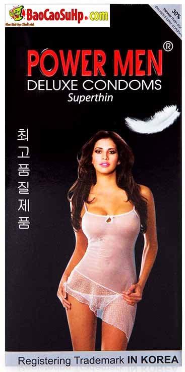 Bao cao su Hàn Quốc siêu mỏng Powermen Superthin.