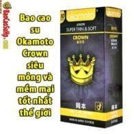 Bao cao su Okamoto Crown siêu mỏng và mềm mại tốt nhất thế giới
