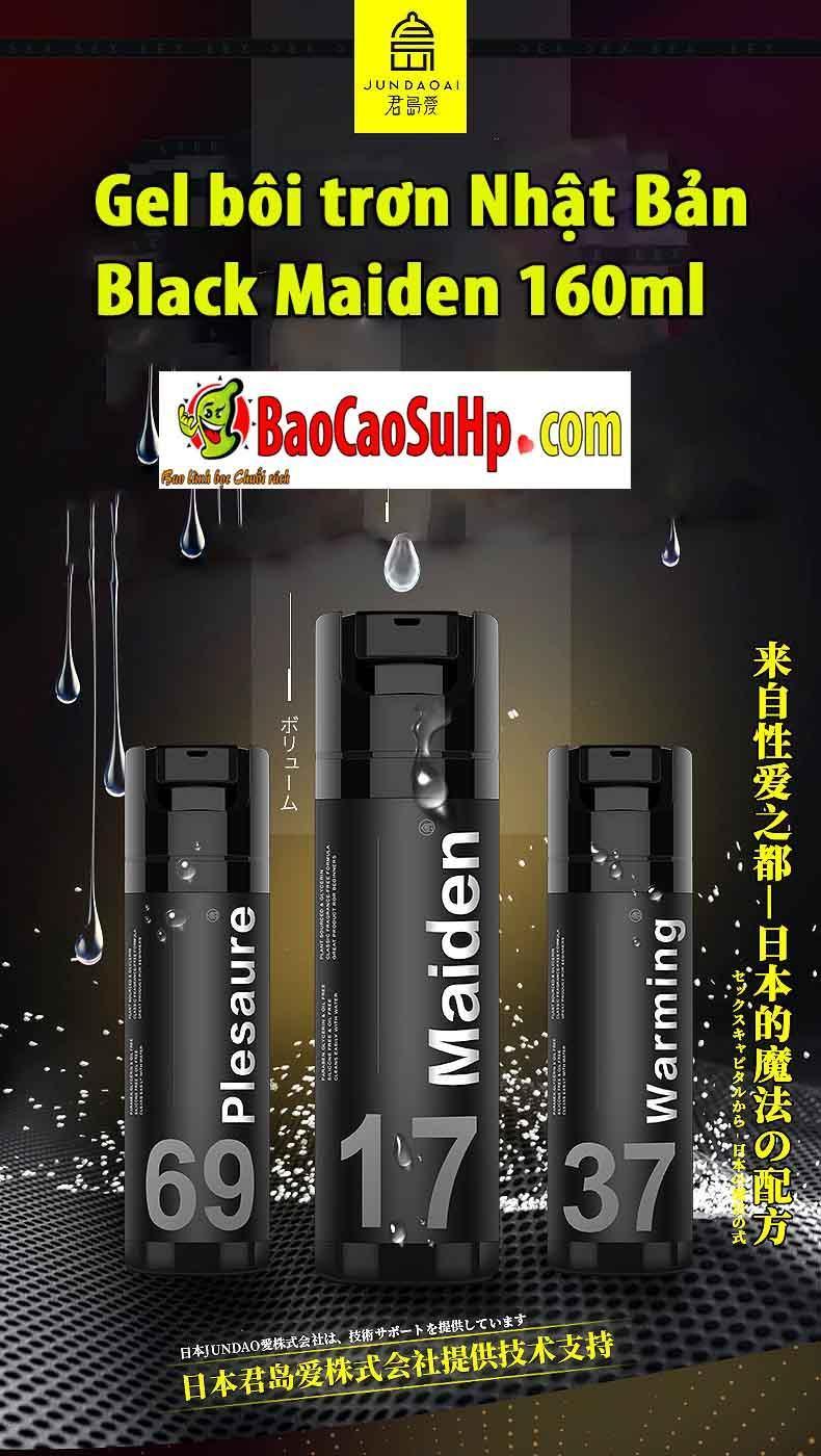 20190303222836 1825414 gel boi tron nhat ban maiden 160ml - Gel bôi trơn Nhật Bản Black Maiden 160ml