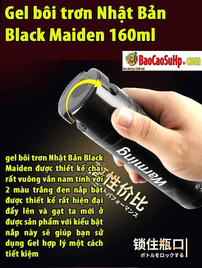 20190303222854 5185095 gel boi tron nhat ban maiden 160ml 1 - Gel bôi trơn Nhật Bản Black Maiden 160ml