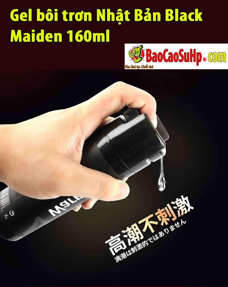 20190303222911 6205529 gel boi tron nhat ban maiden 160ml 2 - Gel bôi trơn Nhật Bản Black Maiden 160ml