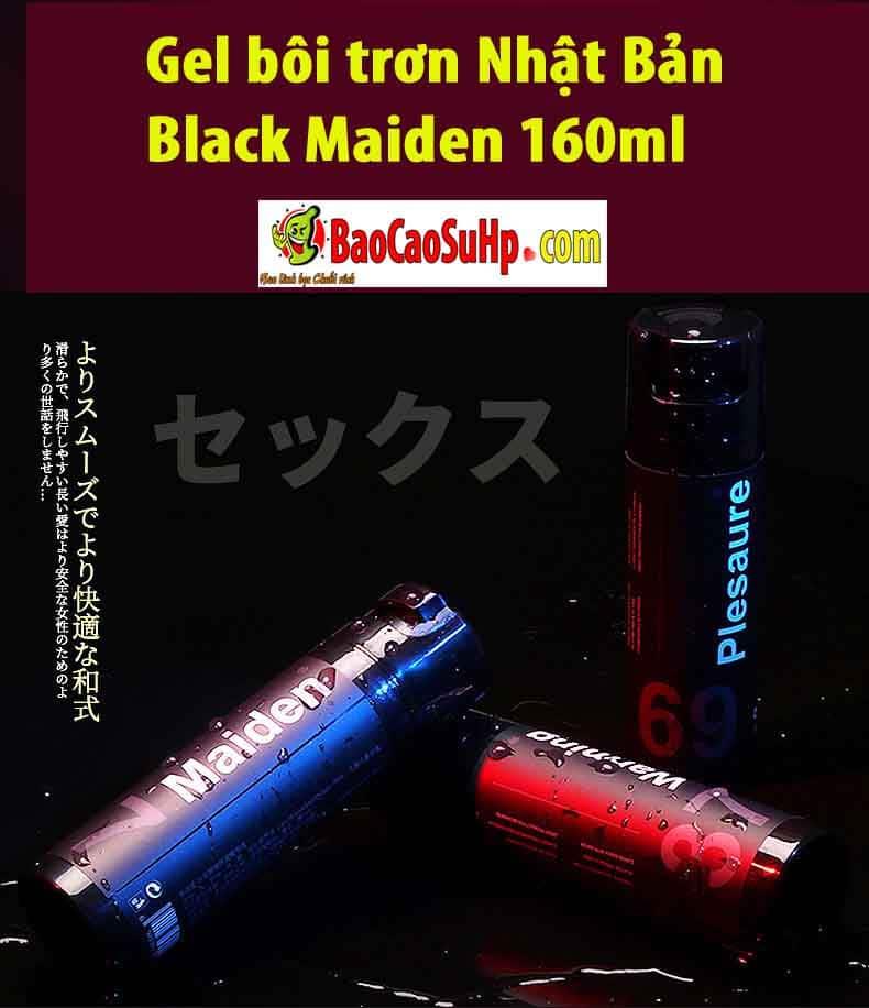 20190303222921 7267307 gel boi tron nhat ban maiden 160ml 3 - Gel bôi trơn Nhật Bản Black Maiden 160ml