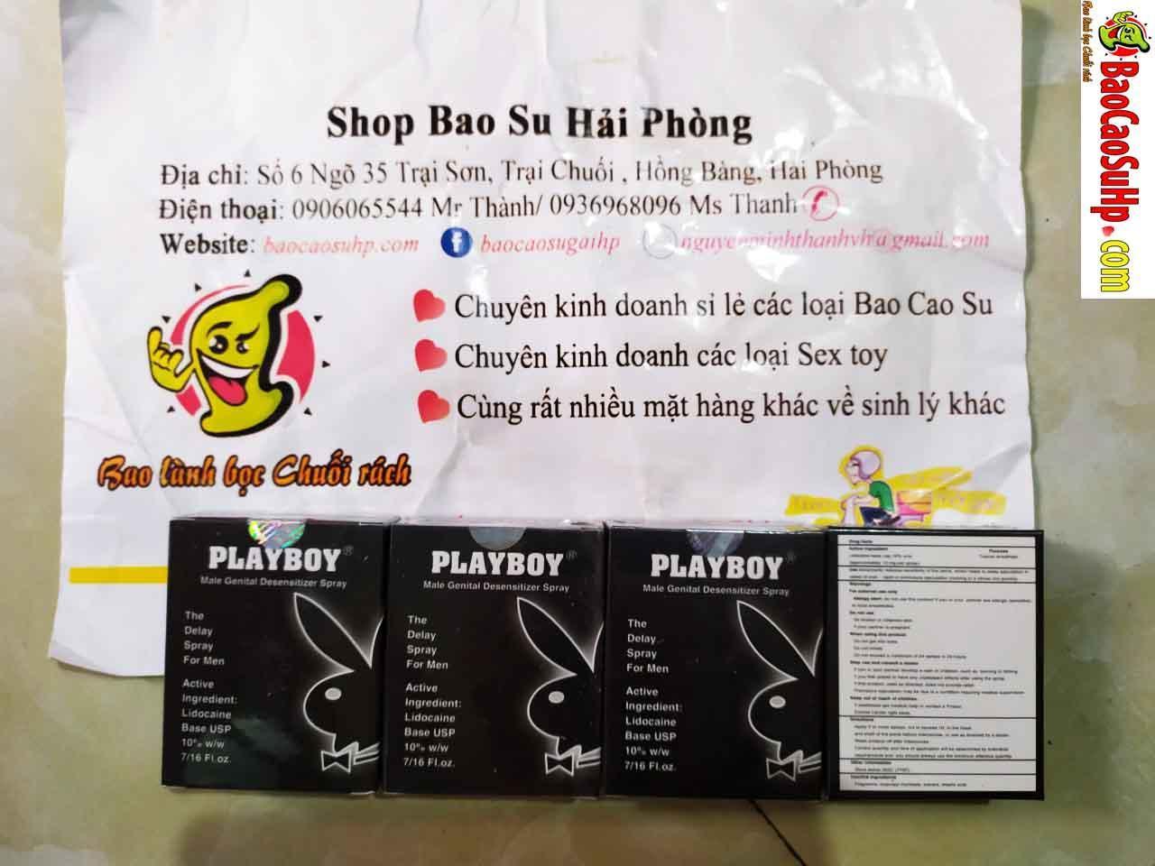 20190315230119 7126705 chai xit playboy den - Bao cao su, chai xịt kéo dài , gel bôi trơn hàng về ngày 15.03.2019