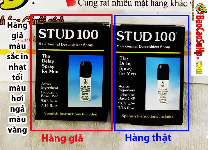 20190416231629 5389801 phan biet that gia chai xit stud 100 3 - Chai xịt kéo dài Stud 100 (An toàn và ổn định nhất)