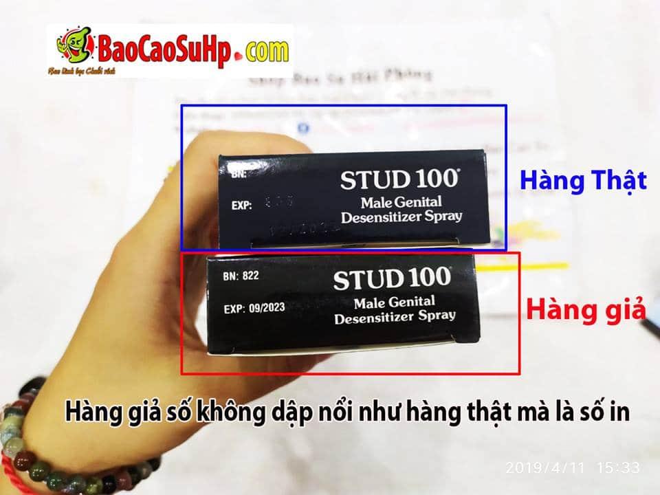 20190416231642 5730056 phan biet that gia chai xit stud 100 1 - Chai xịt kéo dài Stud 100 (An toàn và ổn định nhất)