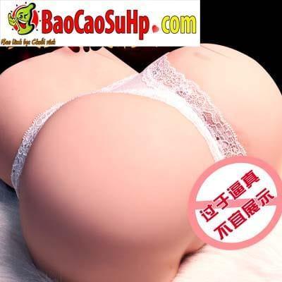 Sextoy mông nguyên khối Womanbaby trắng hồng căng mẩy