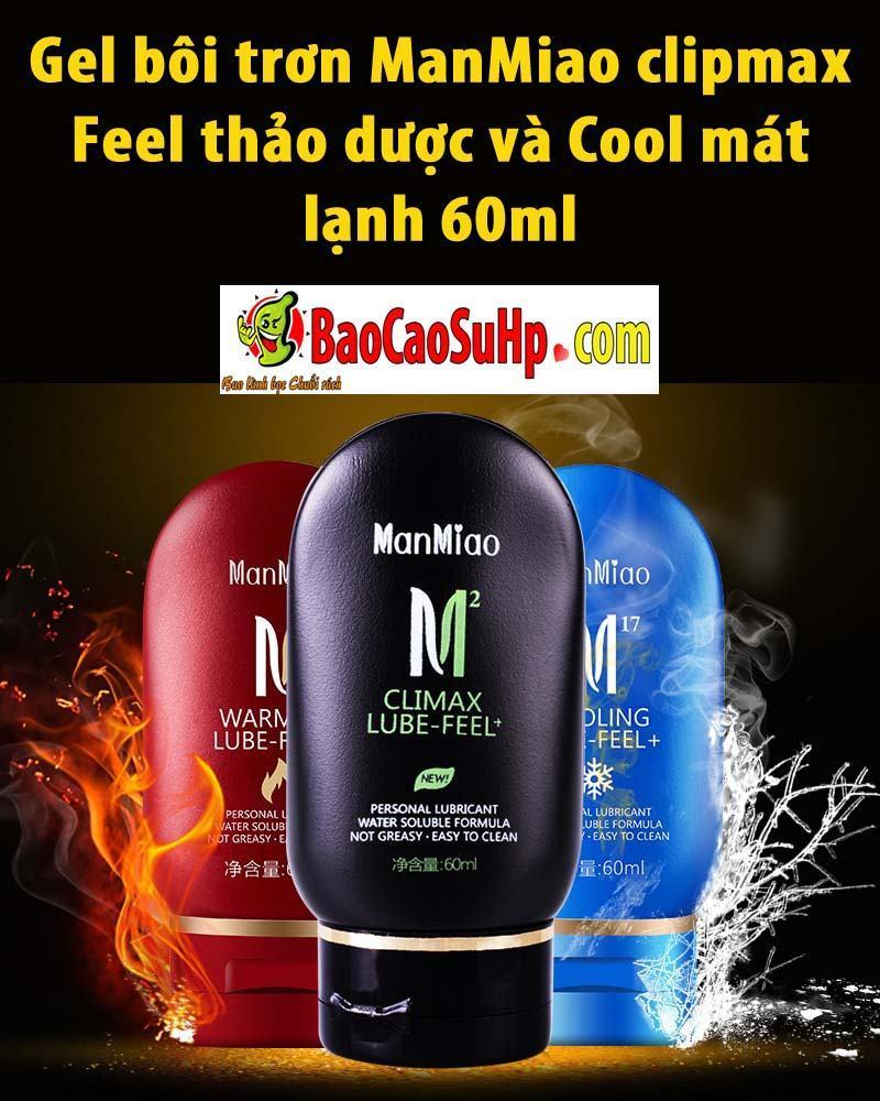 20190601184522 3126320 gel boi tron manmiao clipmax - Gel bôi trơn ManMiao clipmax Feel thảo dược và Cool mát lạnh 60ml