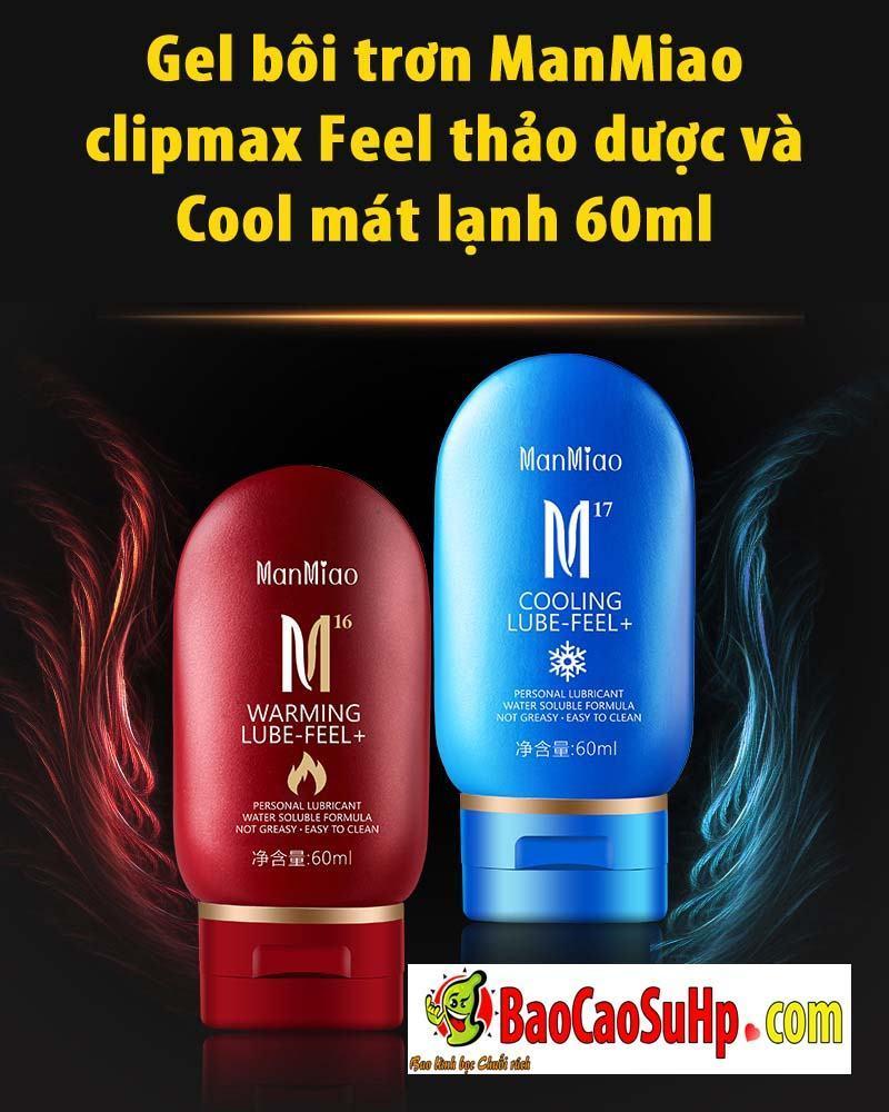 20190601184631 7454703 gel boi tron manmiao clipmax 1 - Gel bôi trơn ManMiao clipmax Feel thảo dược và Cool mát lạnh 60ml