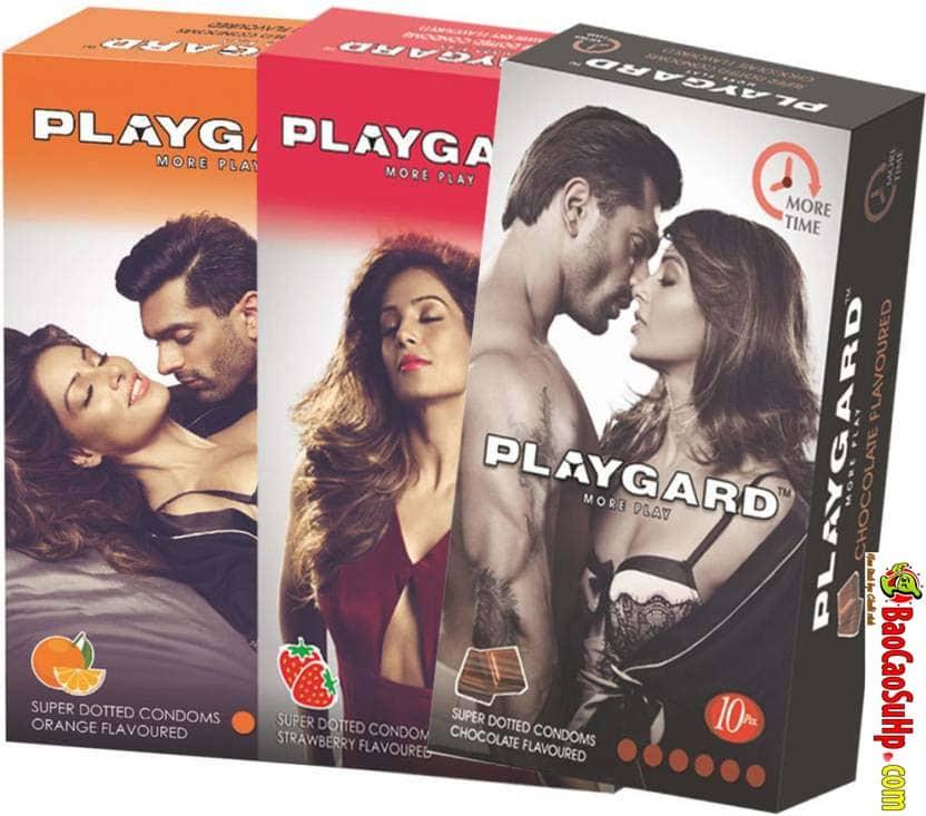 20190707144118 1655807 playgard more time super dotted chocolate and strawberry condoms - Bao cao su kéo dài thời gian là gì? Top 10 loại tốt nhất thế giới