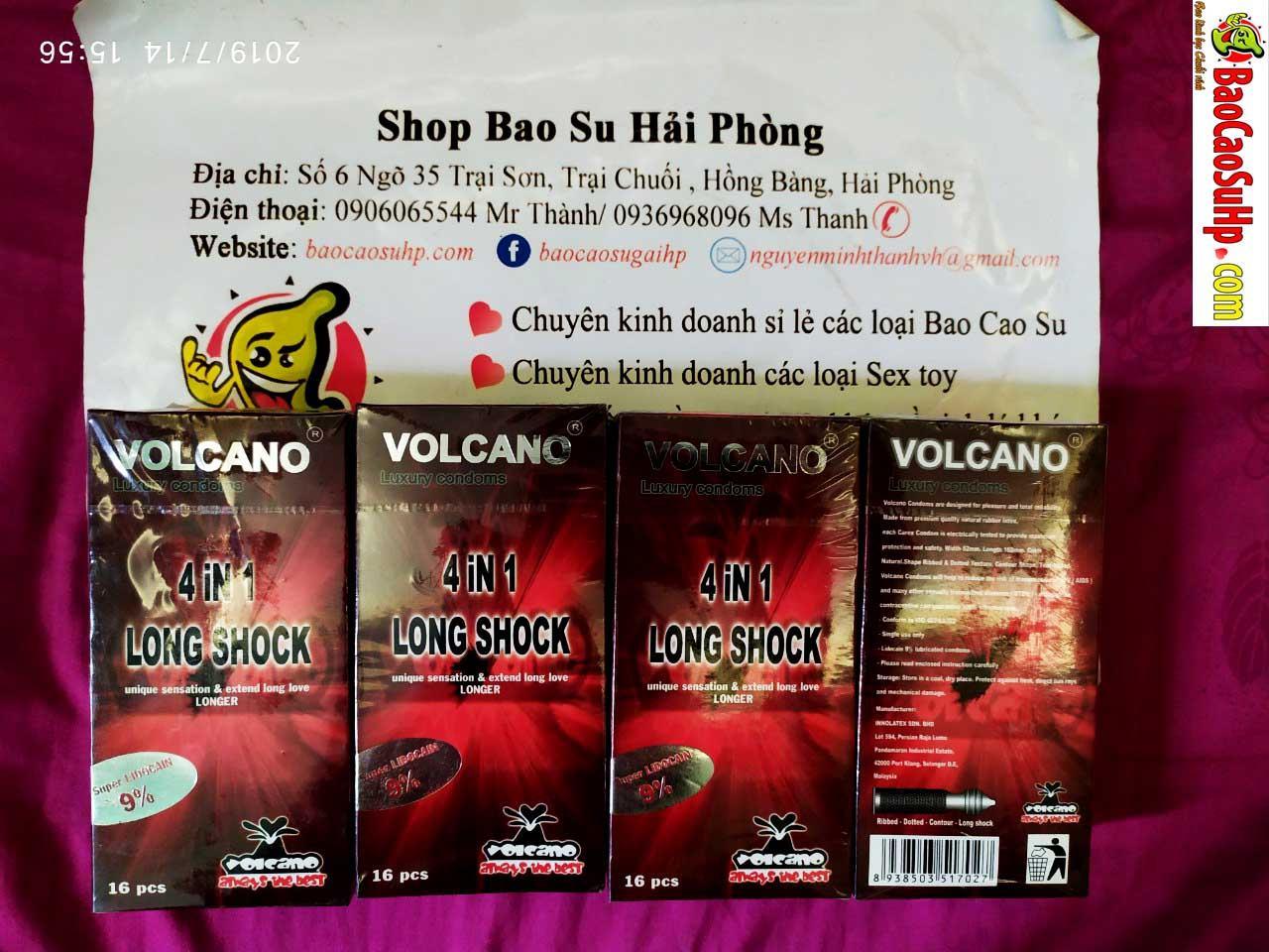 20190714213515 5675430 bao cao su volcano 5in1 - Bao Cao Su Volcano 4 In 1 (16 Cái ) Phiên bản nâng cấp 9% chất kéo dài