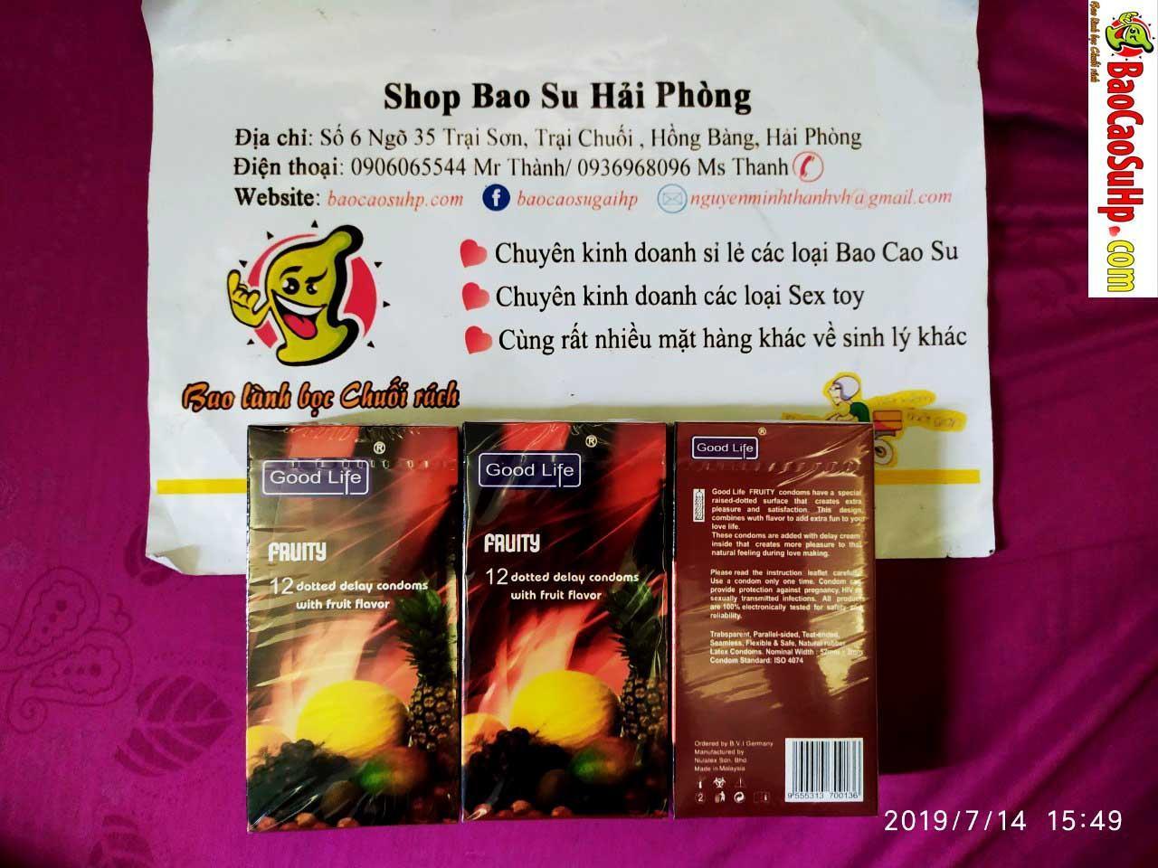 20190714213515 9134130 bao cao su good life hoa qua thom mat - Bao cao su good life fruity hoa quả thơm mát