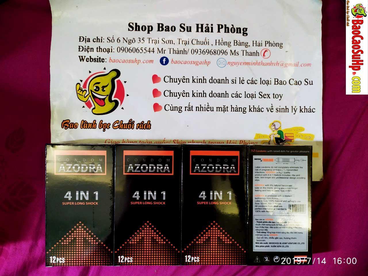 20190714213515 9352046 bao cao su azodra thai lan - Bao cao su gai gân kéo dài , thuốc cường dương các loại hàng về ngày 14.07.2019