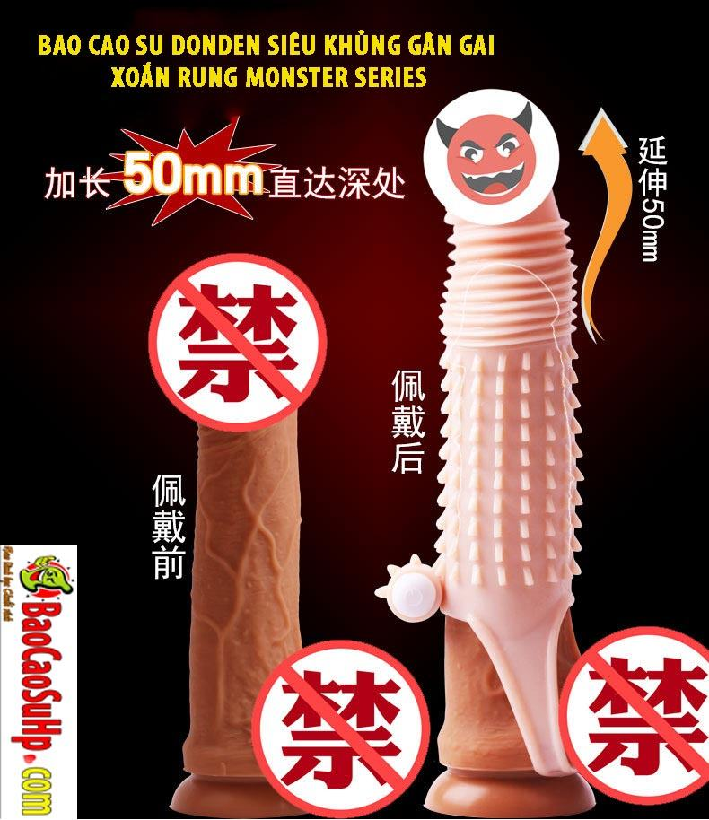 20190916155201 6548309 bao cao su donden sieu khung monster series 5 - Bao cao su donden siêu khủng gân gai xoắn rung monster series