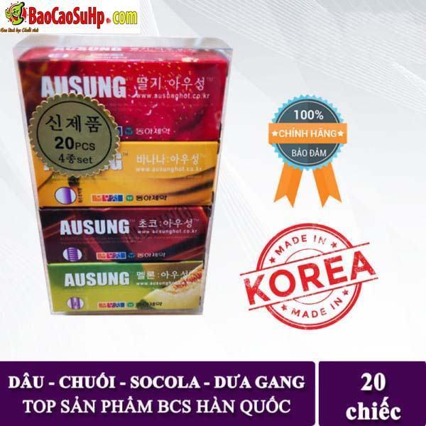 20190917140150 4583309 bao cao su ausung prenium fruity - Bao cao su Hàn Quốc Ausung Prenium Fruity