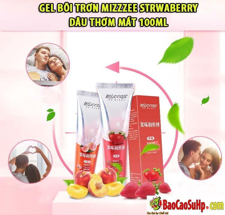 20191018104908 4387781 gel boi tron mizzzee strwaberry 100ml 5 - Gel bôi trơn Mizzzee Strwaberry dâu thơm mát 100ml