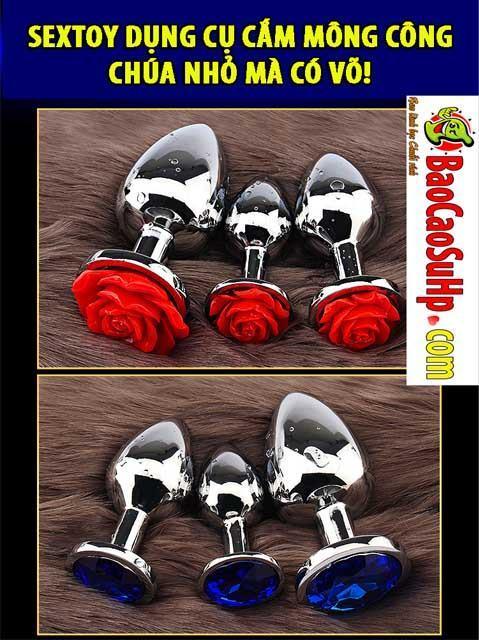 20191113123506 5440154 dung cu cam mong cong chua hd - Sextoy dụng cụ cắm mông hoa hồng Princess