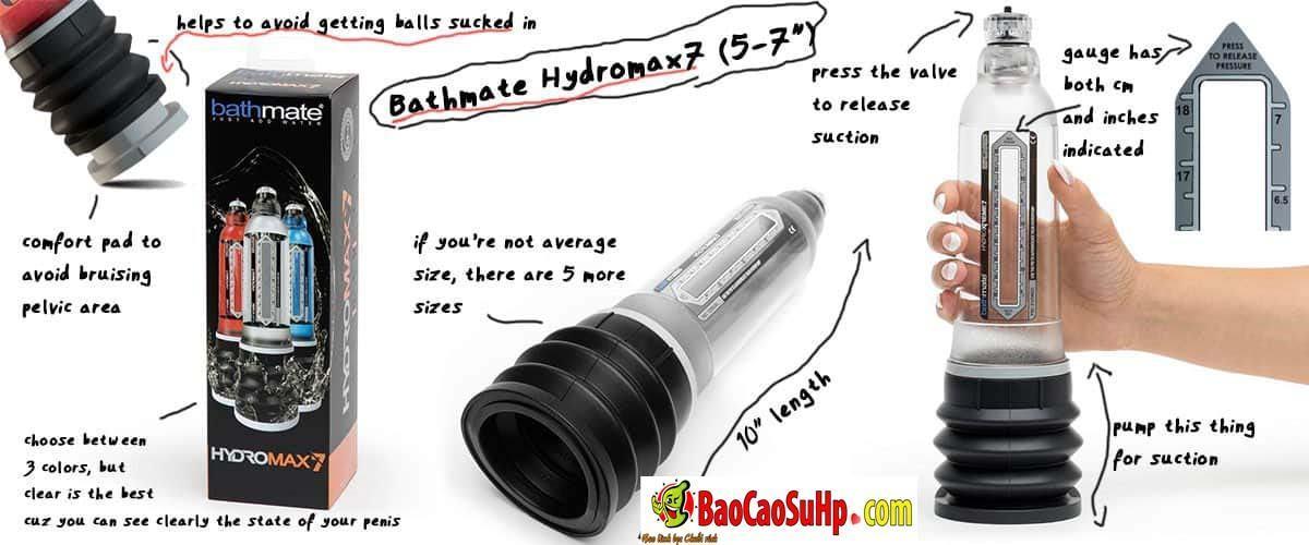 20200111092412 6007718 may tap bathmate hydromax pump 3 - Máy tập dương vật tốt nhất thế giới Bathmate Hydromax Pump