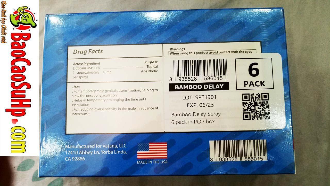 20200224110043 1158361 chai xit chong xuat tinh som bamboo delay 14 5 - Bao cao su chống xuất tinh sớm chai xịt USA hàng về ngày 24.02.2020