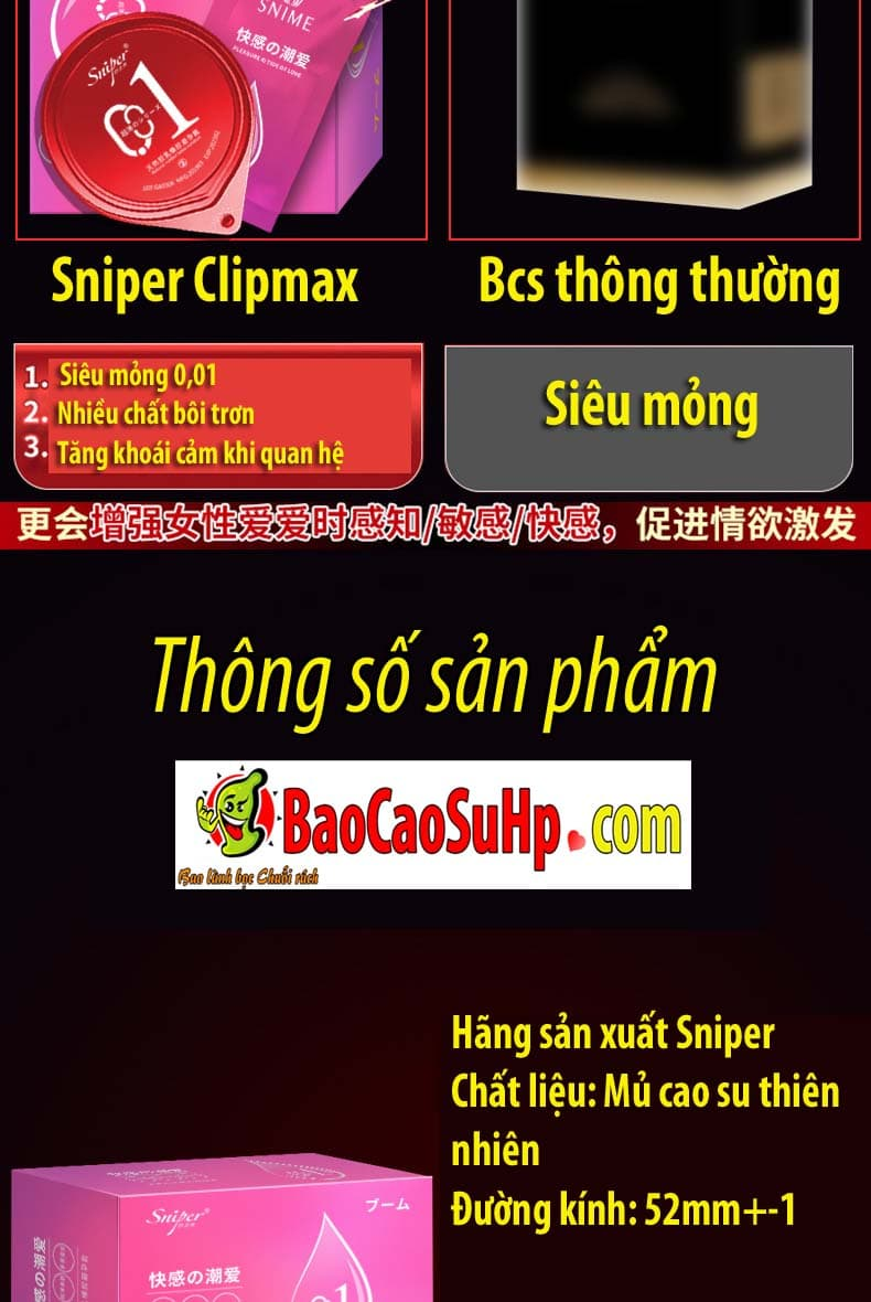 20200430121327 3080942 bao cao su sieu mong sniper clipmax 10 - Bao cao su siêu mỏng 0,01 kèm gel bôi trơn cực khoái Sniper Clipmax xuất nhật