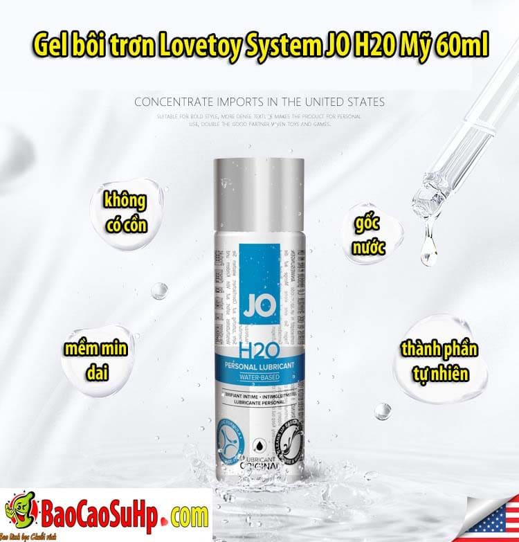 20200501103351 5760755 gel boi tron lovetoy system jo h20 6 - Gel bôi trơn Lovetoy System JO H20 Mỹ 60ml