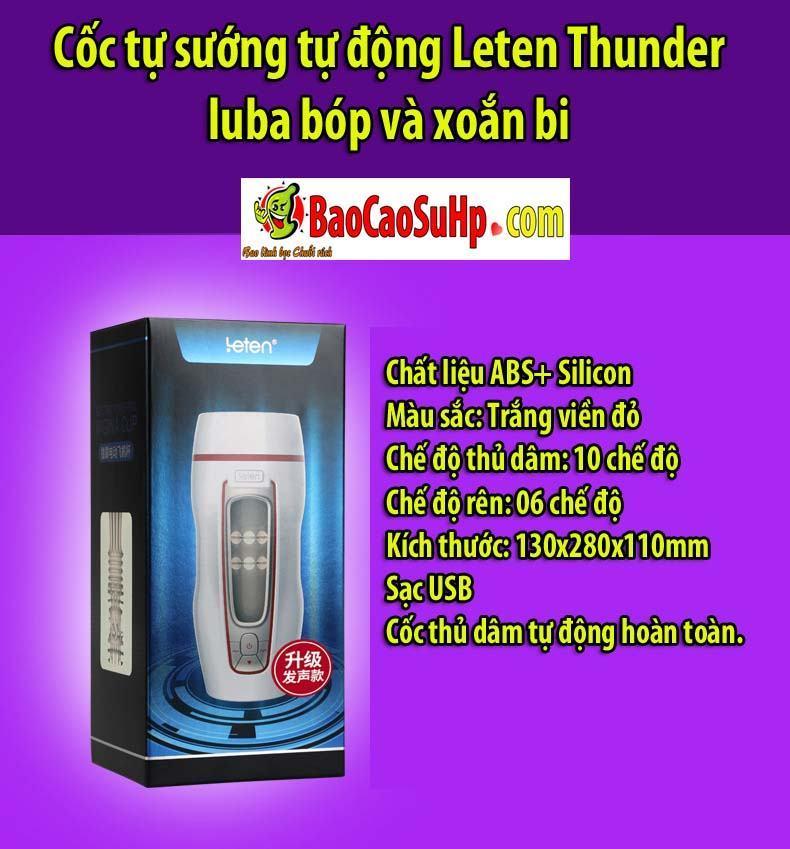 20200506105326 1252156 coc tu suong leten thunder luba 13 - Cốc tự sướng tự động Leten Thunder luba bóp và xoắn bi