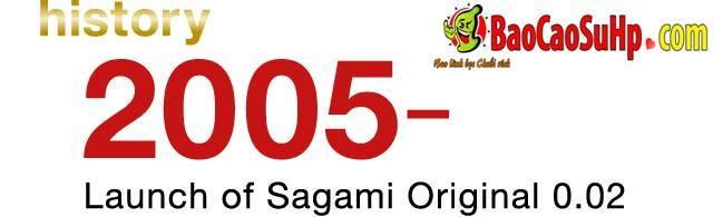 20200507110032 5359304 lich su bao cao su sagami 2005 - Lịch sử hình thành và phát triển bao cao su Sagami Nhật Bản