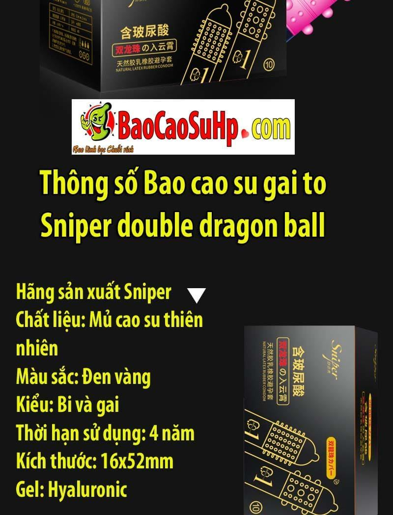 20200513103734 7241760 bao cao su gai to sniper double dragon ball 11 - Cặp đôi bao cao su gai to Sniper double dragon ball tăng khoái cảm