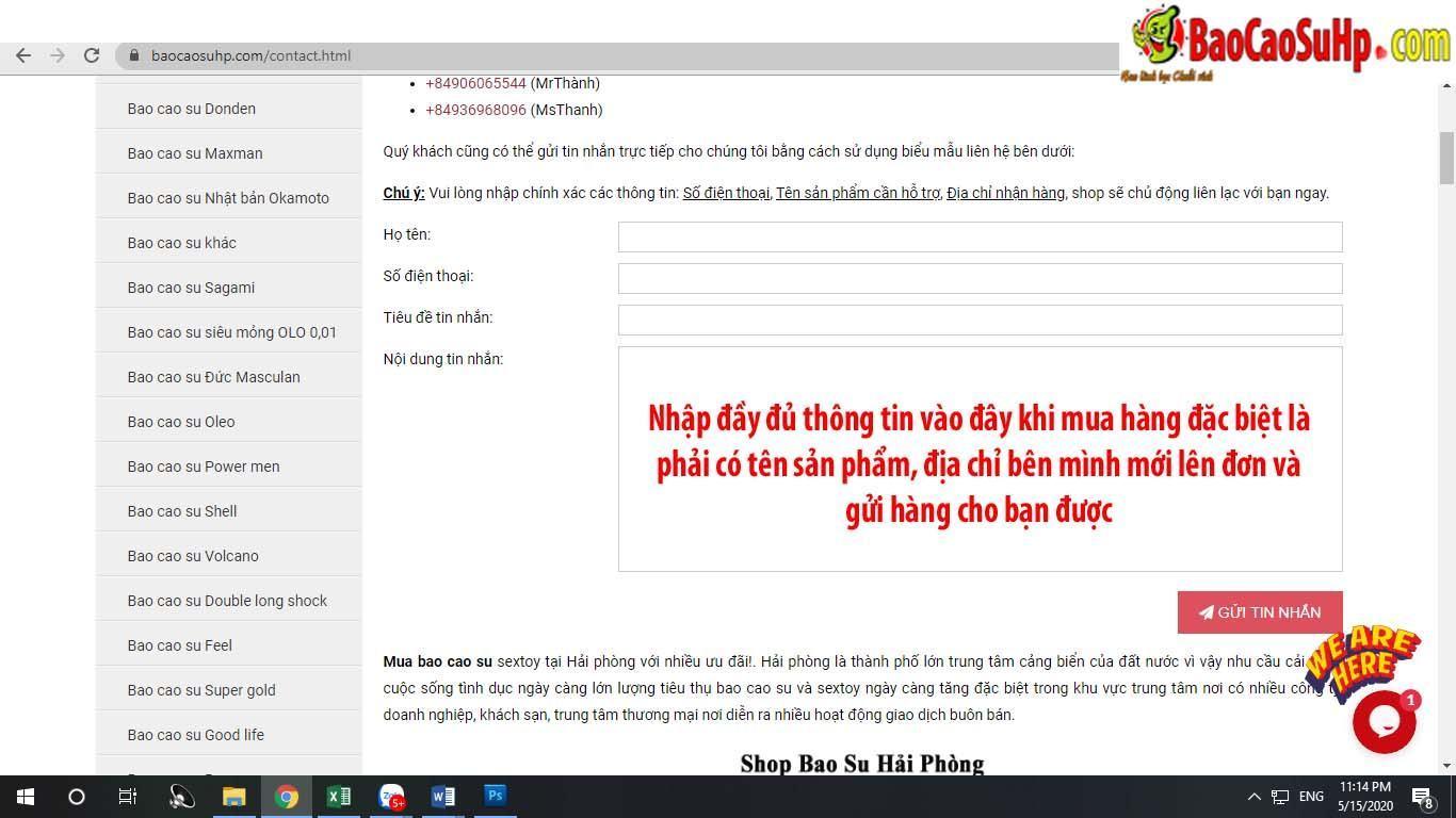 20200518134057 8892703 gui thong tin cho shop - Hướng dẫn cách mua hàng tại shop baocaosuhp