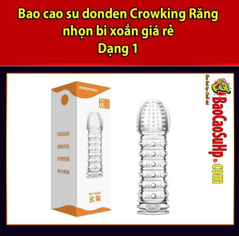 20200520211019 1424434 bao cao su donden crowking 12 - Bao cao su donden Crowking Răng nhọn bi xoắn giá rẻ