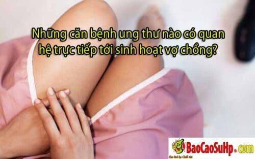 benh ung thu lien quan den tinh duc 500x313 - Những căn bệnh ung thư nào có quan hệ trực tiếp tới sinh hoạt vợ chồng?