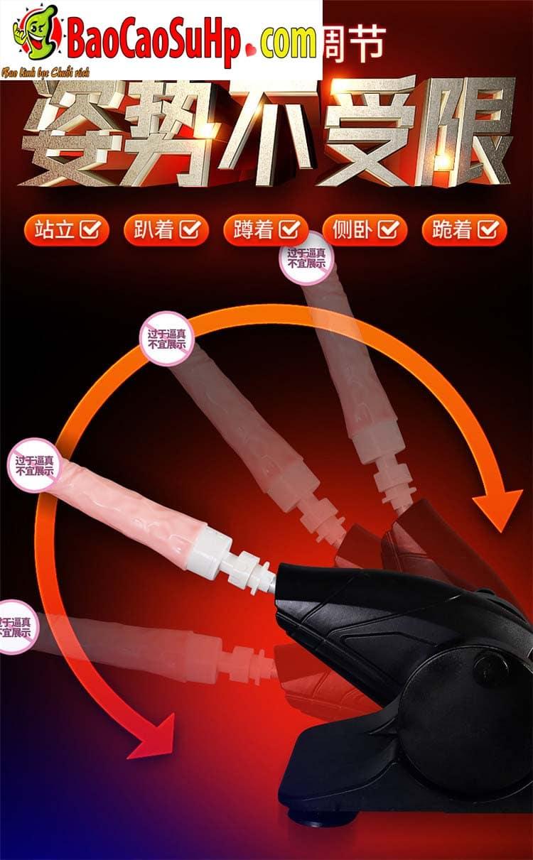 sextoy machine duong vat thut ngoay Storm Wash 11 - Súng thần công tự động thụt giật phát nhiệt AZ2 cực mạnh