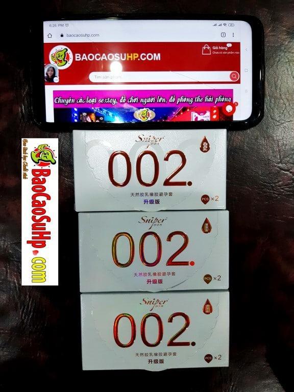 Bao cao su Sniper Flower sieu mong 002mm Medium - Bao cao su Sniper Flower siêu mỏng 0,02mm