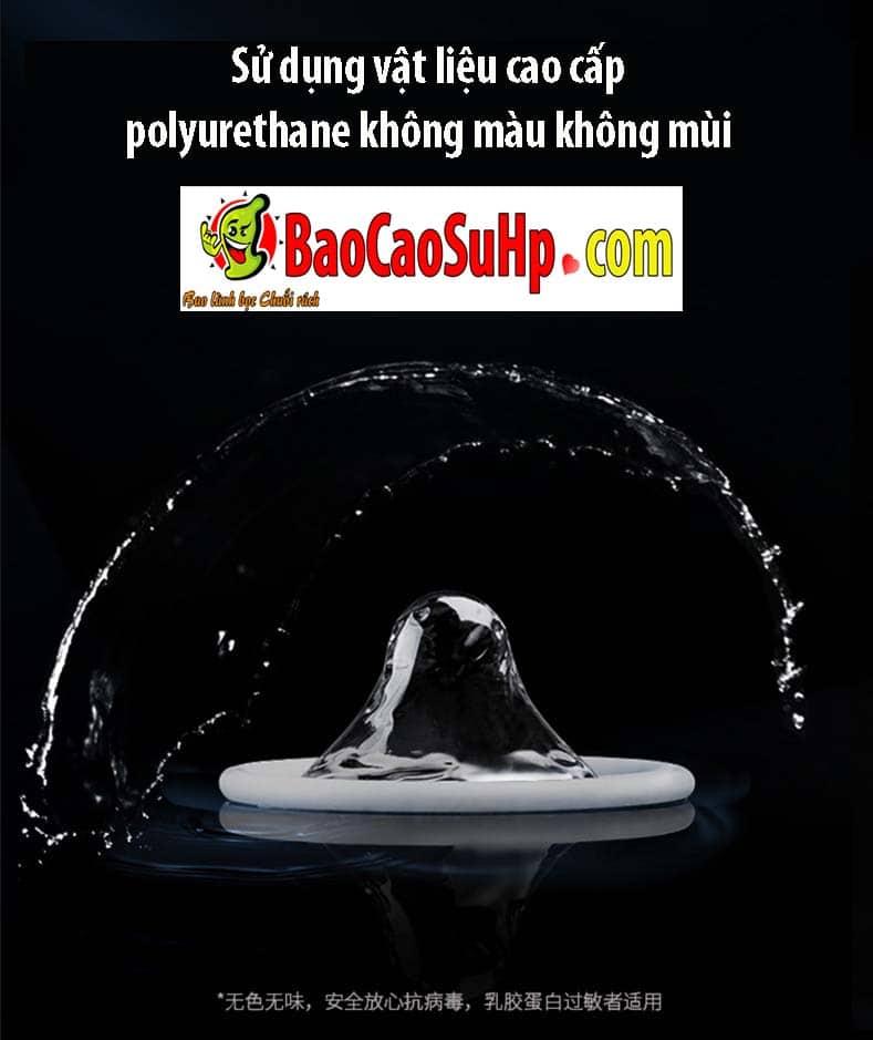 Bao cao su polyurethane 001 Olo 7 - Bao cao su Prenium siêu mỏng  polyurethane 0,01 Olo