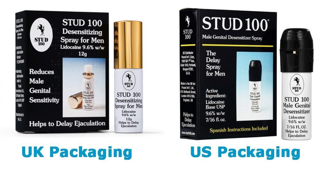 stud 100 uk vs us packaging 1 - Chai xịt stud 100 phiên bản UK nắp vàng hàng chuẩn 100%