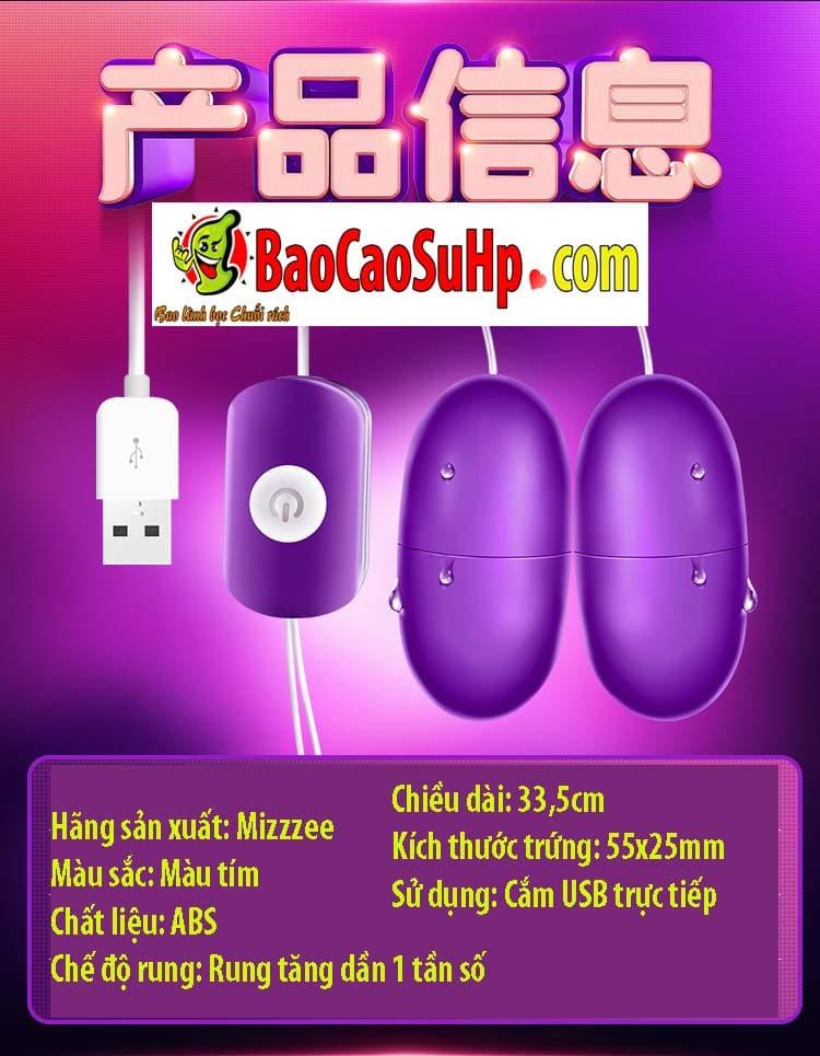 trung rung tinh yeu mizzzee PV 15 - Trứng rung giá rẻ Mizzzee PV cắm USB kích thích cực sướng