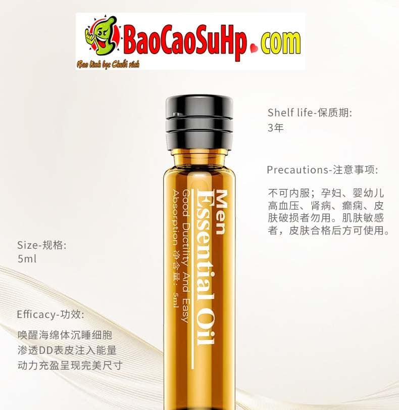Gel massage body Men Essential Oil 6 - Gel massage body Men Essential Oil 25ml