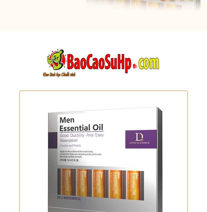 Gel massage body Men Essential Oil 9 - Gel massage body Men Essential Oil 25ml
