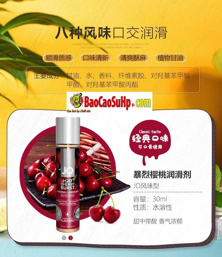 gel boi tron system Jo Fruity 10 - Gel bôi trơn Mỹ Jo H20 Fruity thơm vị thiên nhiên dành cho vợ chồng 2in1
