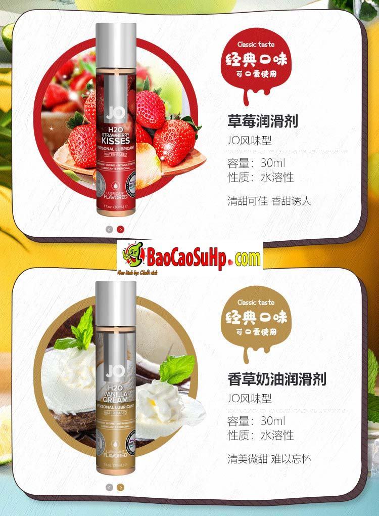 gel boi tron system Jo Fruity 12 - Gel bôi trơn Mỹ Jo H20 Fruity thơm vị thiên nhiên dành cho vợ chồng 2in1